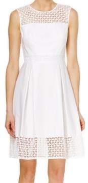 Calvin Klein Women's Crochet Sleeveless Fit & Flare Dress