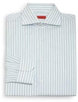 Isaia Regular-Fit Striped Cotton Dress Shirt