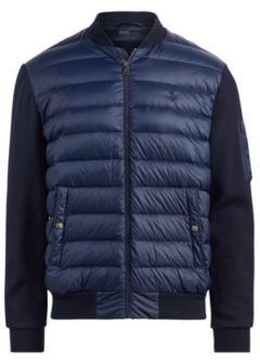 Ralph Lauren Active Fit Down Bomber Jacket Aviator Navy S