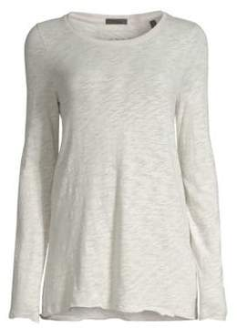 ATM Anthony Thomas Melillo Long Sleeve Destroyed Wash Top