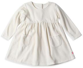 Zutano Cream Velour Pocket A-Line Dress - Toddler