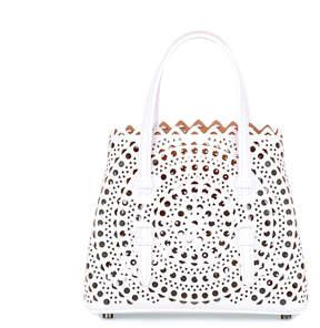 Alaia White leather cut-out mini bag