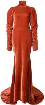 Christian Siriano high neck fishtail gown