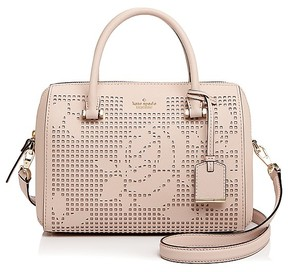 Kate Spade Cameron Street Perforated Lanes Large Leather Satchel - DOLCE PINK/GOLD - STYLE