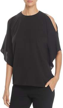 BOSS Ishioni Cold-Shoulder Ruffled-Sleeve Top