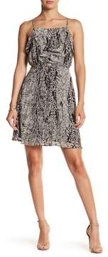 Collective Concepts Ruffle Detail Pattern Dress