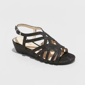 Stevies Girls' #STARREDD Dressy Quarter Strap Sandals - Black