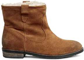 H&M Warm Lined Suede Boots