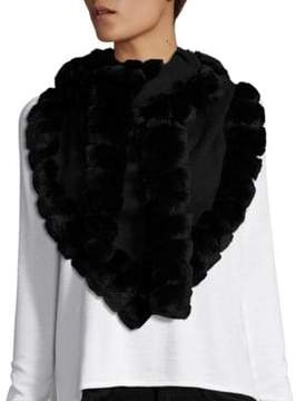 Glamour Puss Glamourpuss Bohemian Rabbit Fur-Trimmed Scarf