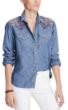 Denim & Supply Ralph Lauren Cotton Chambray Shirt.
