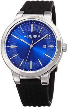 Akribos XXIV Mens Black Bracelet Watch-A-1007ssbu