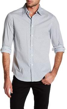Perry Ellis Patterned Button Down Stretch Fit Shirt