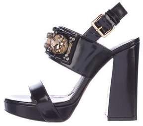 Marni Jewel-Embellished Platform Sandals