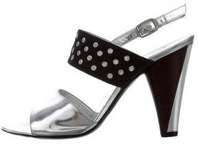 Marc by Marc Jacobs Metallic Grommet-Embellished Sandals