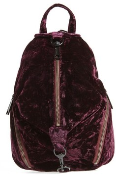 Rebecca Minkoff Julian Velvet Backpack - Red - RED - STYLE