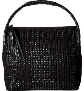 Tory Burch Taylor Woven Hobo Hobo Handbags - BLACK - STYLE