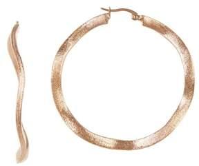 Rivka Friedman 50mm Satin Wavy Hoop Earrings