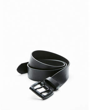 Express matte double prong buckle belt