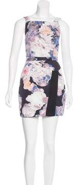 Finders Keepers Sleeveless Floral Print Dress