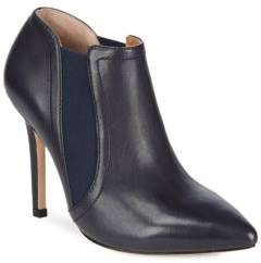 Halston Zippered Leather Booties