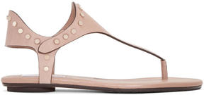 Jimmy Choo Beige Studded Dara Sandals