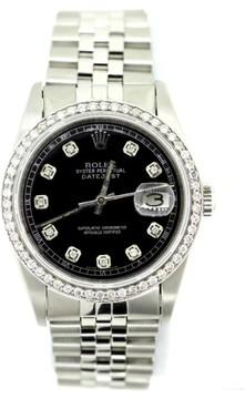 Rolex Datejust Diamond Black Dial Stainless Steel 36mm Watch