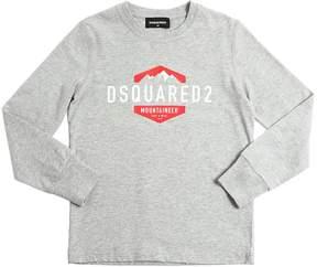DSQUARED2 Logo Print Print Cotton Jersey T-Shirt