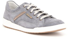 Mephisto Men s Rodrigo Leather and Suede Trim Sneakers