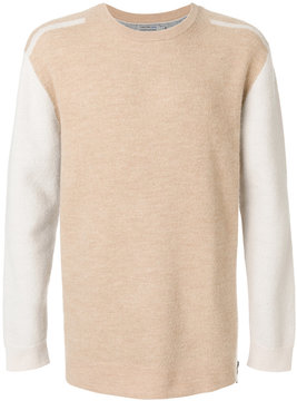 CK Calvin Klein two-tone crew neck sweater