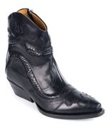 Roberto Cavalli Women's Black Leather Western Ankle Boots.
