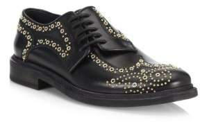 Burberry Rayford Studded Leather Oxfords