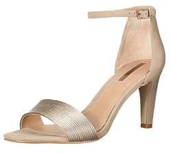 Tahari Womens Novel Leather Open Toe Casual Ankle Strap Sandals.