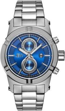 JBW Strider Stainless Steel Case Blue Dial Diamond Bezel Men's Watch