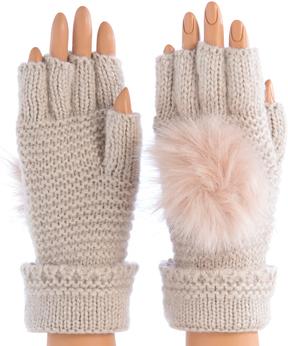 Shiraleah Blush Portia Fingerless Gloves