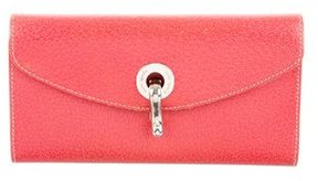 Kate Spade Leather Flap Wallet - RED - STYLE