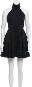 Finders Keepers Perforated Halter Dress