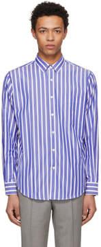 Ami Alexandre Mattiussi SSENSE Exclusive Blue and White Large Stripe Shirt