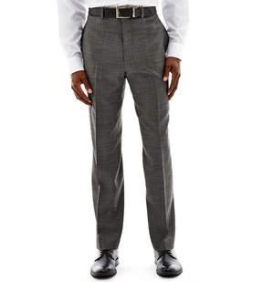 Claiborne Black & White Nailhead Flat-Front Suit Pants - Classic Fit