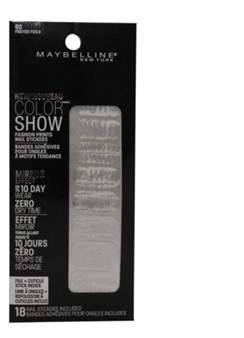 Maybelline Color Show Prints Mirror Effect Nail Stickers. 60, Frayed Foils.