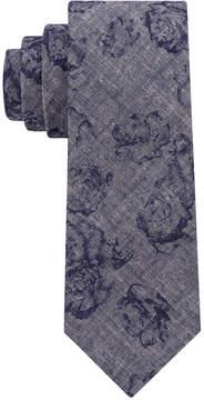 DKNY Men's Denim Floral Slim Tie