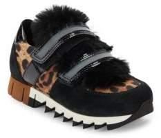 Dolce & Gabbana Grip-Tape Leopard Print Sneakers