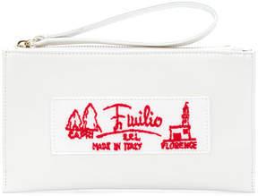 Emilio Pucci embroidered wristlet pouch