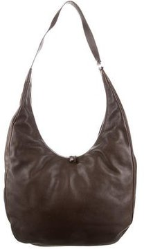 Loro Piana Large Leather Hobo