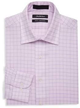 Saks Fifth Avenue BLACK Slim-Fit Houndstooth Cotton Dress Shirt