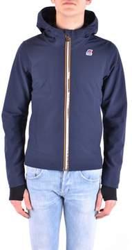 K-Way Men's Blue Polyamide Jacket.