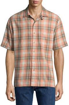 Arizona Short Sleeve Plaid Button-Front Shirt