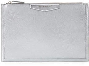 Givenchy Antigona Metallic Leather Pouch Bag