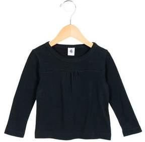 Petit Bateau Girls' Long Sleeve Gathered Top