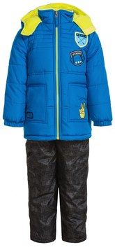 iXtreme Active Color-Block Jacket and Snow Bibs Set - Insulated (For Toddler Boys)
