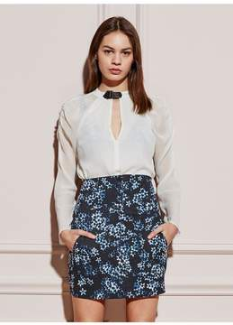 Fleur Du Mal | Blouse With Rouched Sleeves | L | White